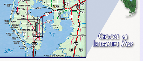Interactive Map Of Florida.Maps Of St Petersburg Florida Choose From Maps Of The Downtown St